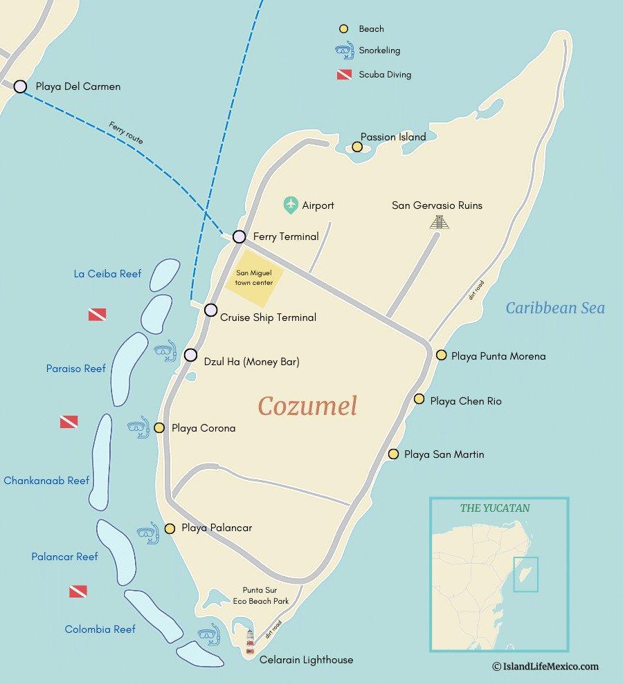 ou snorkeler à Cozumel