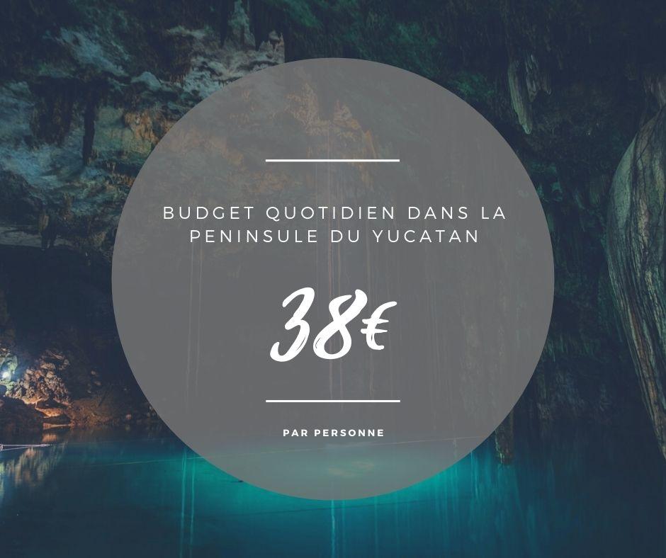 budget quotidien roadtrip yucatan