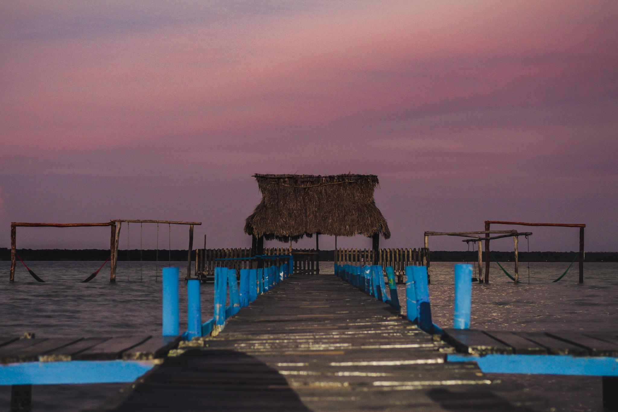 coucher de soleil visiter bacalar