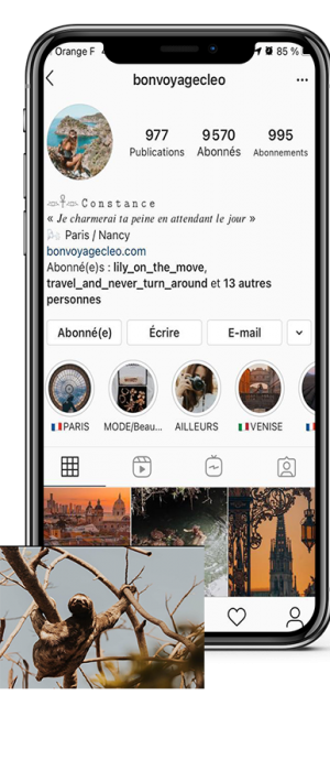 Le compte Instagram de BonVoyageCleo